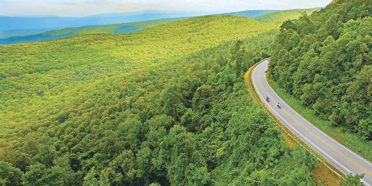 Motorcycle rides and scenic drives in Bath County Va