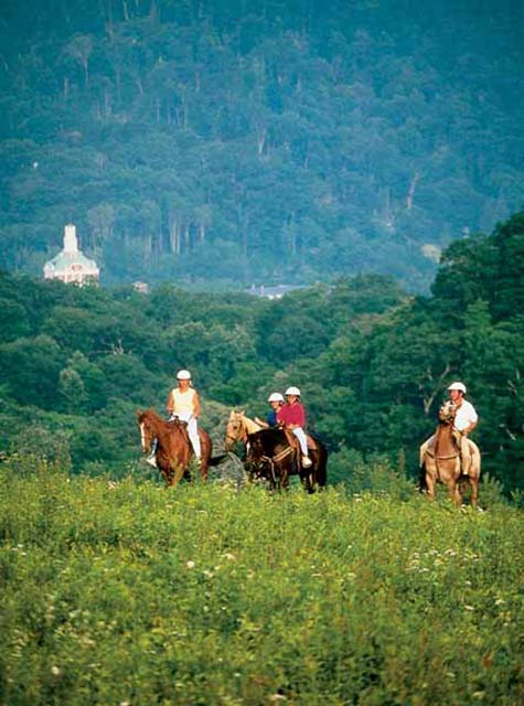 Horseback riding at The Homestead Resort & Spa