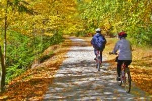 Bike the Jackson River Scenic Trail with bikes from Alleghany Outdoors