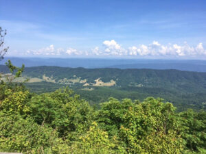 scenic beauty from overlook in Bath County Va