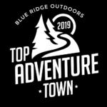 Blue Ridge Outdoors Top Adventure Town winner logo
