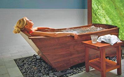 The Omni Homestead Resort Spa walnut tub