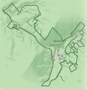 Warm Springs & West Warm Springs Historic District map