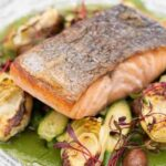 Garden Room & Cafe salmon and brussels sprouts