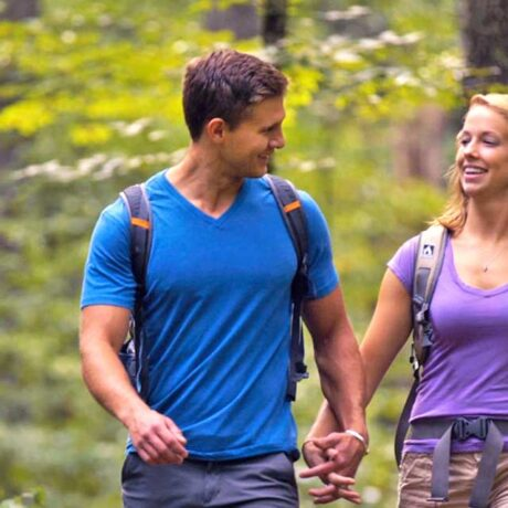 couple hiking in Bath County Va