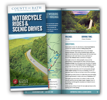 Scenic Drives brochure cover and spread