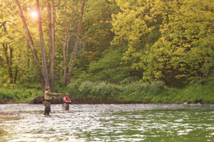 men fly fishing courtesy of Fort Lewis