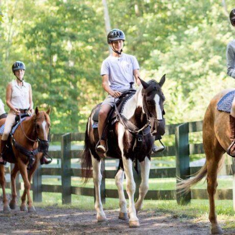 horseback riding at The Omni Homestead Resort