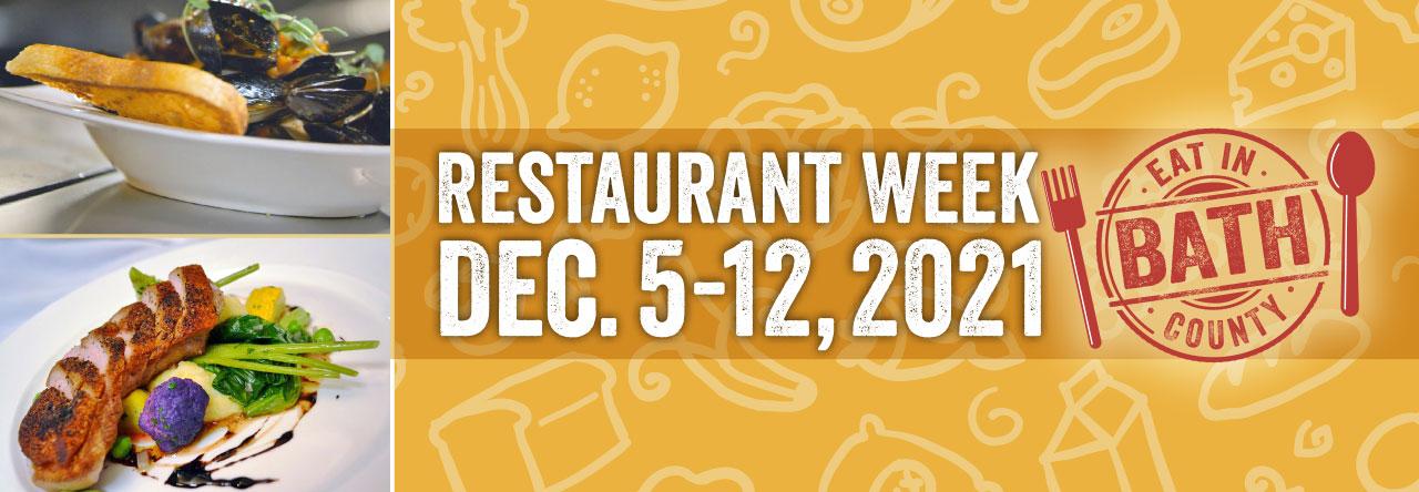 Restaurant Week - December 5-12, 2021 banner